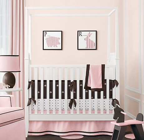 Baby Girl Nursery Pink And Brown Bliss Baby Room Ideas