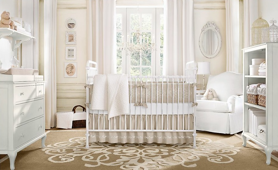 Baby Girl Nursery With Soft Neutral Tones Baby Room Ideas