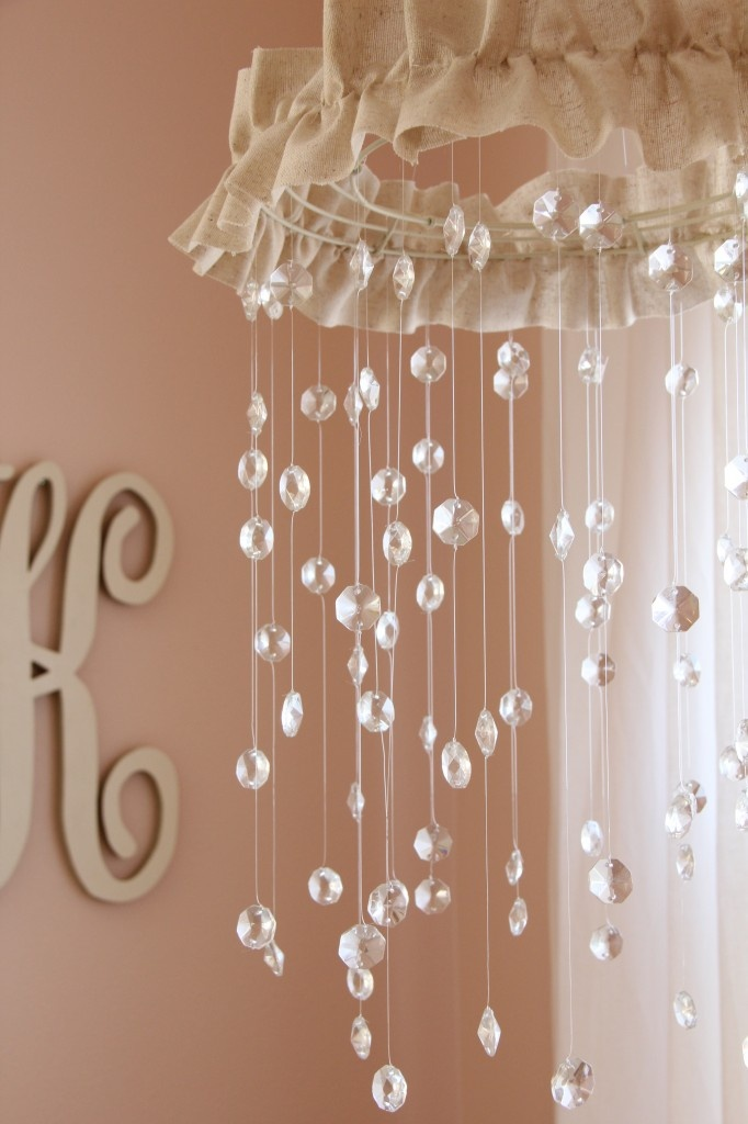 Modern Chic Pink And Grey Nursery Sparkling Gorgeous Mobile For Baby Girls Room