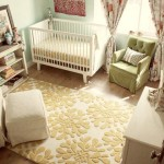 Ideas For Baby Girl Room – Soft Teal and Yellow