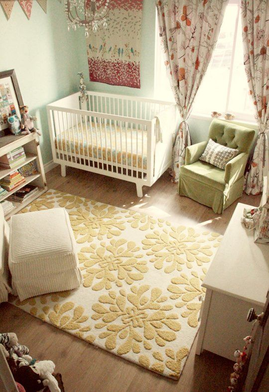 ideas for baby girl room soft teal and yellow baby room ideas. Black Bedroom Furniture Sets. Home Design Ideas