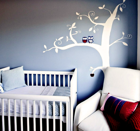 Baby boy nursery ideas owl nursery baby room ideas for Baby boy bedroom decoration