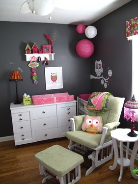 OWL BABY GIRL ROOM