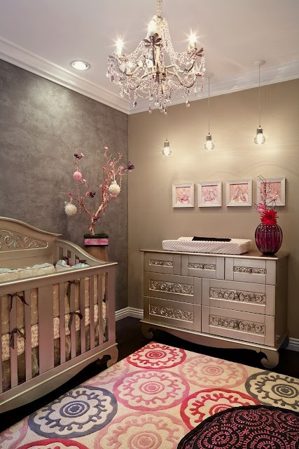 Gorgeous modern beige nursery baby room ideas Infant girl room ideas