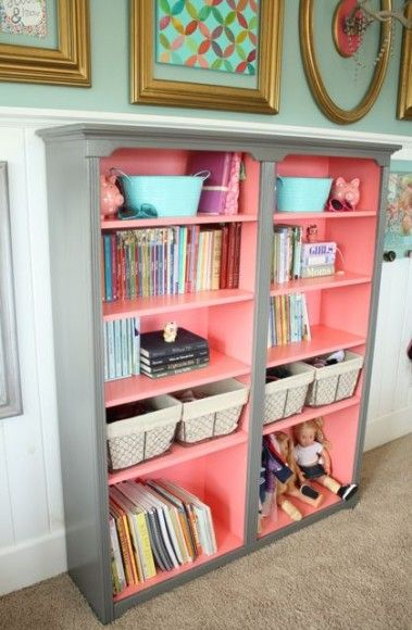 Baby Girl Room Ideas – Custom Book Shelves | Baby Room Ideas
