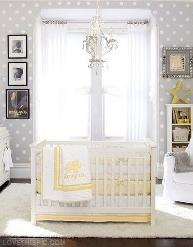 unisex baby room idea grey and yellow baby room ideas
