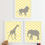 Baby Room Idea- Sweet Yellow Farm Animal Frames