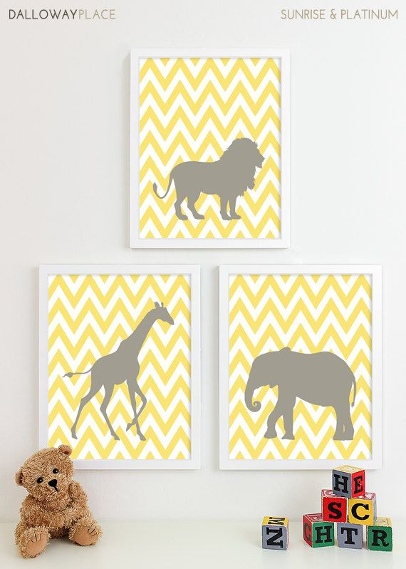 Baby Room Idea Sweet Yellow Farm Animal Frames Baby