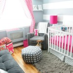Modern Chic Pink and Grey Nursery