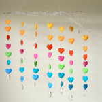 Modern Colourful, Heart Baby Mobile