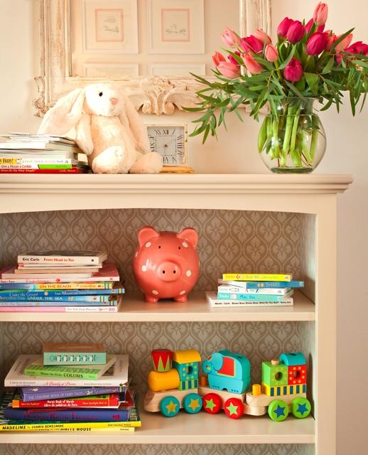 nursery idea - custom bookshelves