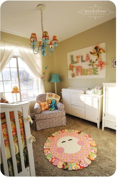 Rainbow Baby Bedroom: Adorable Beige Nursery With Rainbow Accents