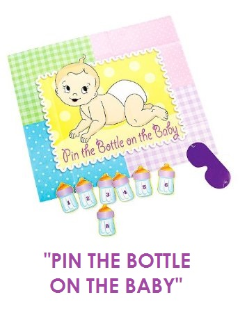pin the bottle on the baby
