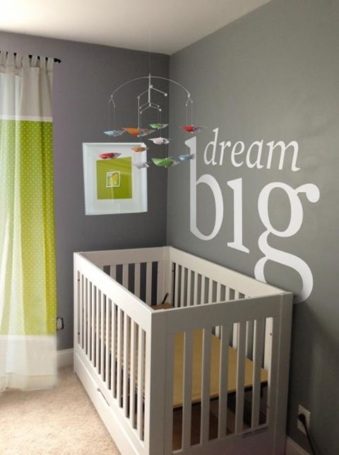 Baby room idea name or quote above crib baby room ideas for Above the crib decoration ideas