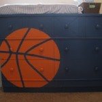 Baby Boy Nursery Ideas – Basketball Painted Dresser