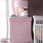 Gorgeous Pink Dresser For A Baby Girl Nursery