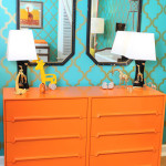 Baby Room Ideas For Baby Boy! Orange and Blue Funk!