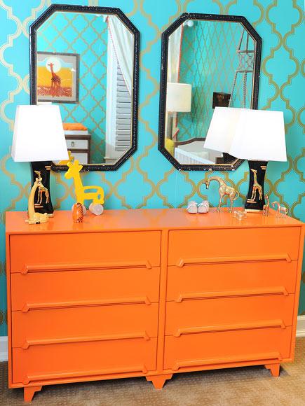 orange baby room