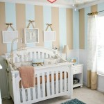 Beige Baby Room Idea With Soft Stripes