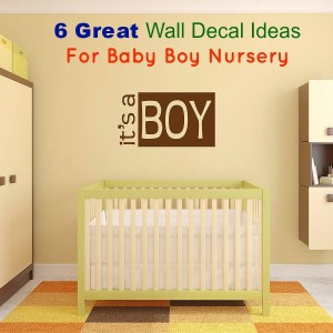 Wall Decal 6 Decals Baby Boy