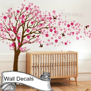 circles vinyl decal wall stickers teen girl boy room modern wall art