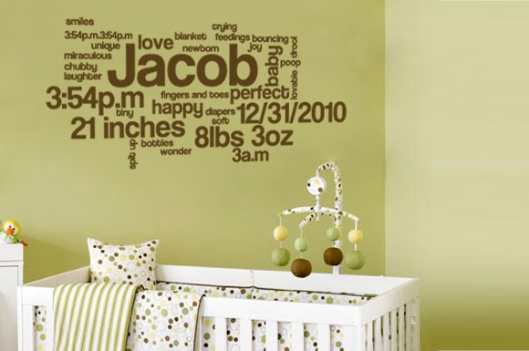 Baby boy nursery wall decal ideas baby room ideas for Baby s room decoration ideas