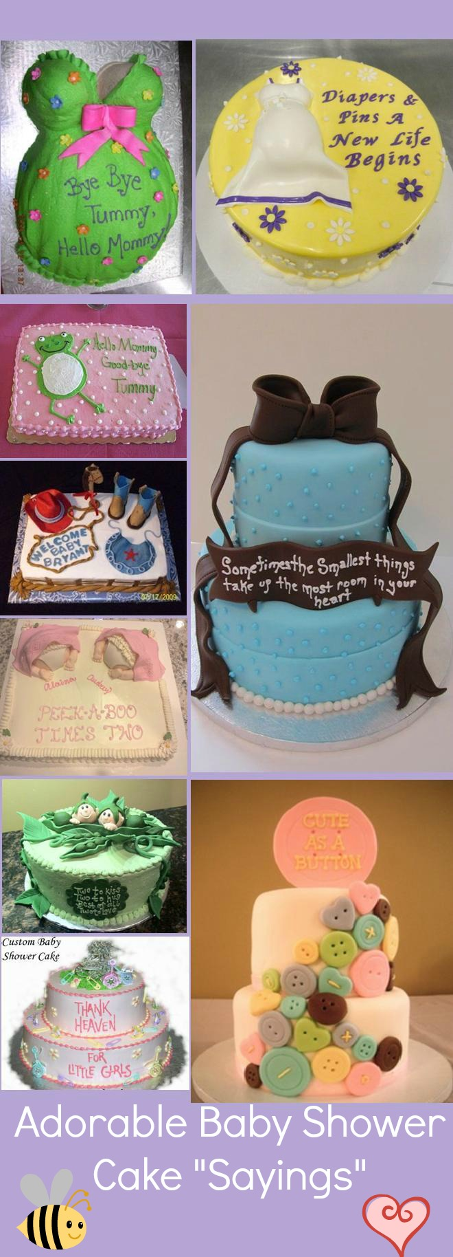 Baby Shower Cake Sayingsn
