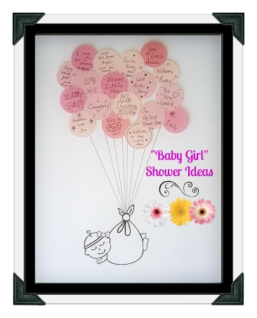 I like the idea of having each guest at a baby shower (or each person close to you) write a note on a sticky note, and then frame it in the babys room