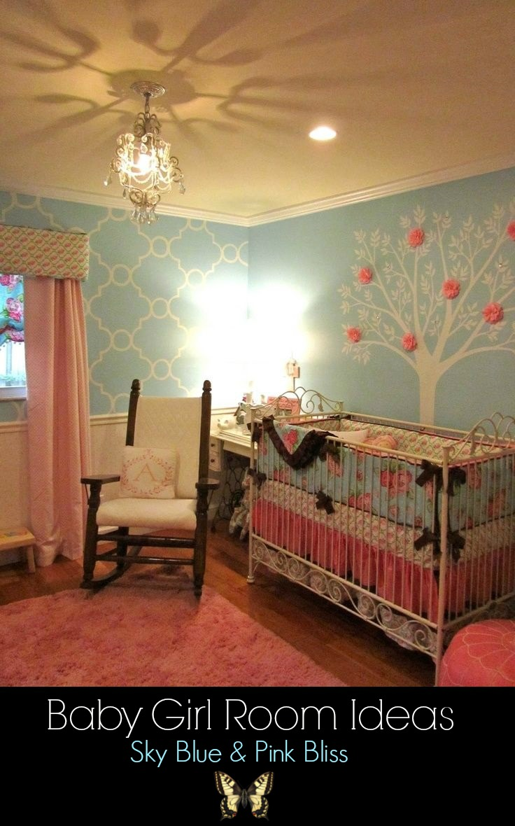 baby girl room sky blue and pinkd