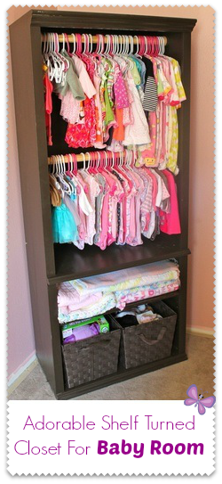 limited closet spaceBookcase redo... SO SMART!!!