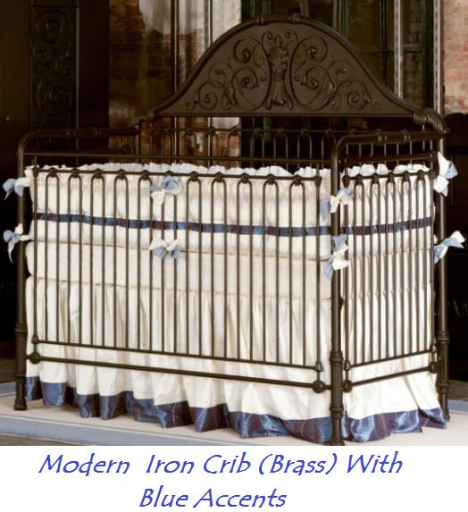 brass iron crib