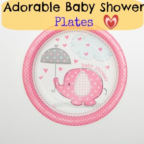 adorable baby shower plates