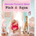Pink and Aqua Baby Girl Nursery Ideas