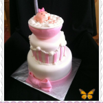 Adorable Baby Shower Cake For Girl