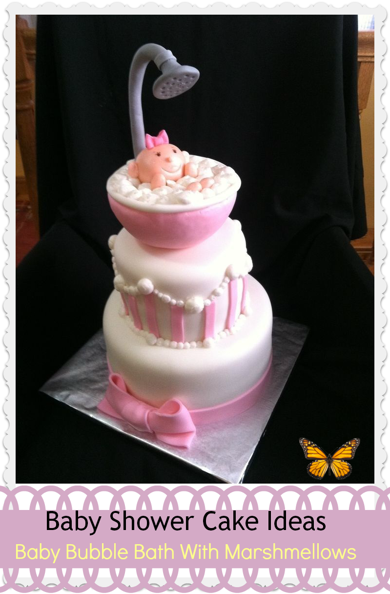 Adorable baby shower cake for girl baby room ideas for Baby shower cake decoration idea