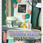 Baby Shower Table Idea – Tutu's and Pom Poms