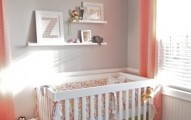 coral & grey baby room... This is pretty much the color theme I'm going with. It will be Greg and pale green for a boy