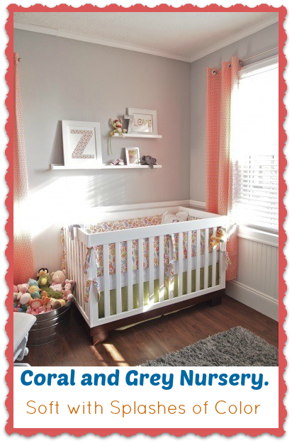 Superb Baby Girl Room Nursery Idea Coral And Grey Baby Room Ideas Home Interior And Landscaping Mentranervesignezvosmurscom