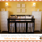 Sweet Yellow and Beige Baby Girl Nursery