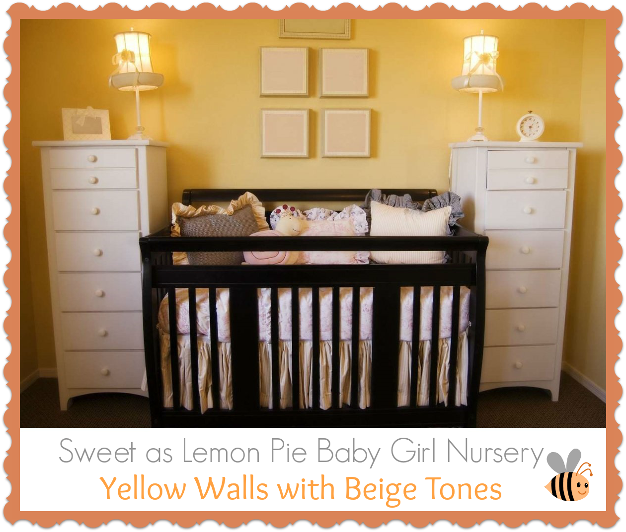 Sweet Yellow and Beige Baby Girl Nursery | Baby Room Ideas