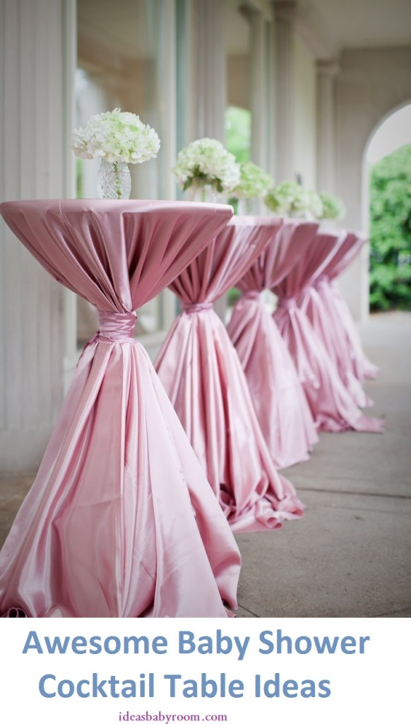 pink baby shower cocktail table