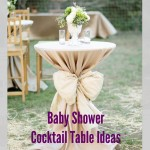 Baby Shower Simple Table Idea