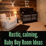 Rustic, Calming Baby Boy Room