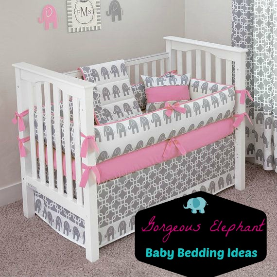 Custom Made Ele 5pc Cribe Bedding By Sofia Etsy