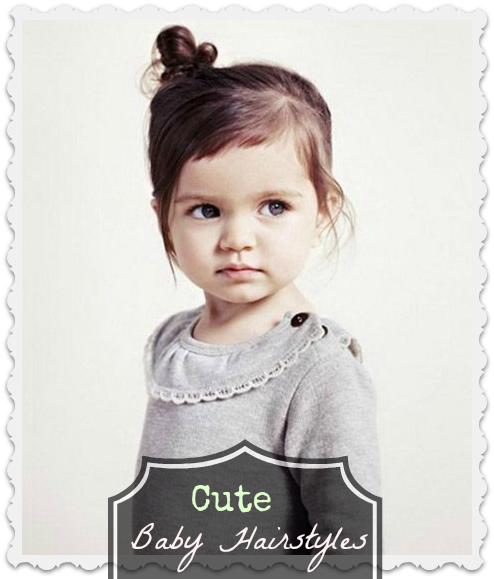 Cute Baby Hairstyle 5: Bangs and A Side Bun