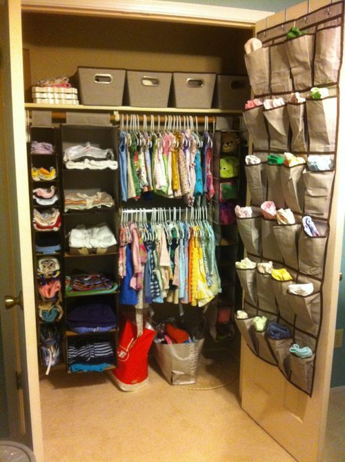Nursery closet organization baby room ideas for Baby organizer ideas