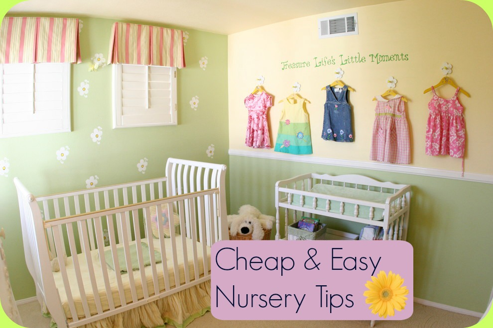 Cheap and easy nursery tips baby room ideas - Idea for a toddler girls room ...