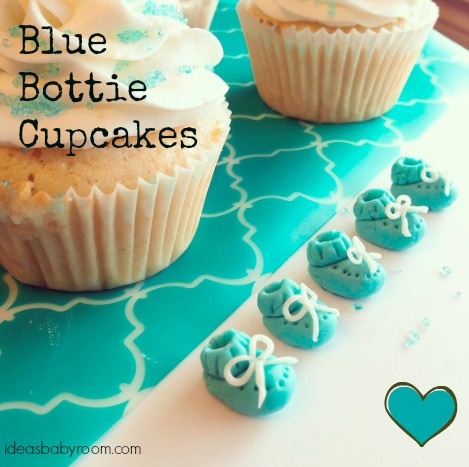 blue bottie cupcakes