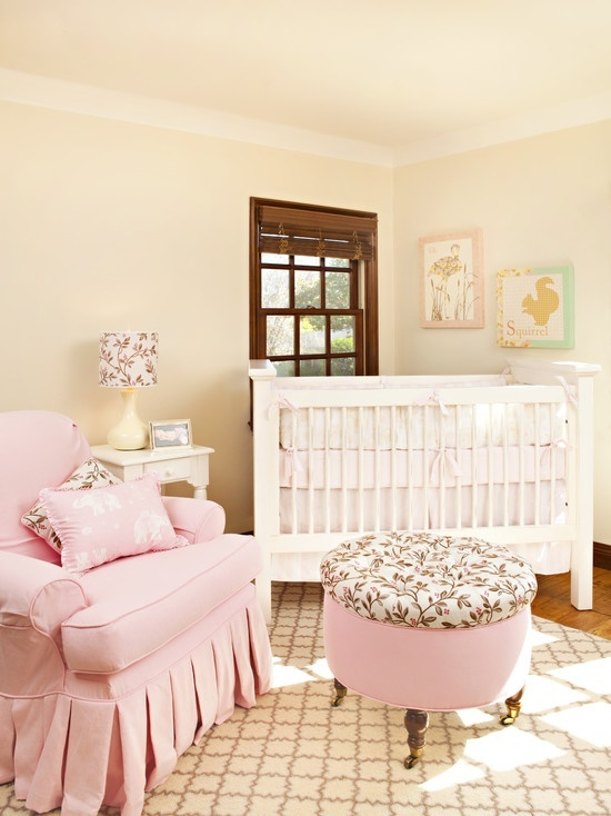 Soft Pink And Beige Nursery Baby Room